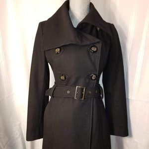EUC. Guess Wool Mid Length Trench Coat Size XS